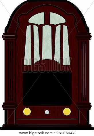 Vector Artwork An Old Radio