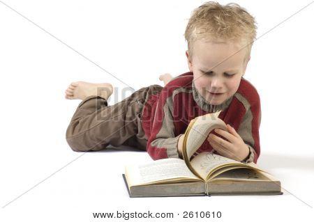 Boy Reading A Book 6