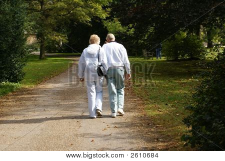 A Couple Walking Together.