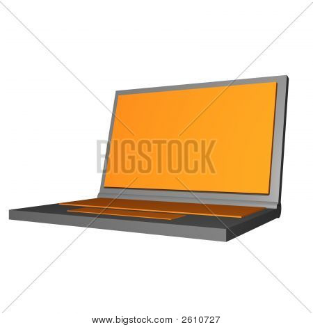 Laptop Object For Diagram And Presentation