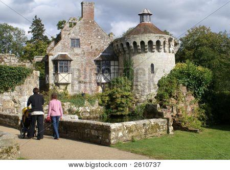 Visitors/Women Visiting A Castle.