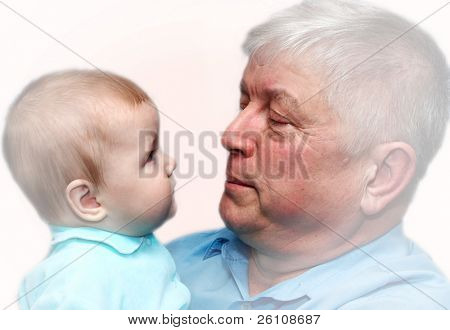 baby and grandpa