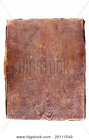 old wood on white background