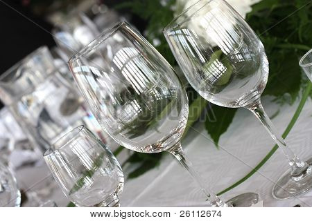 klassische glänzende Gläser