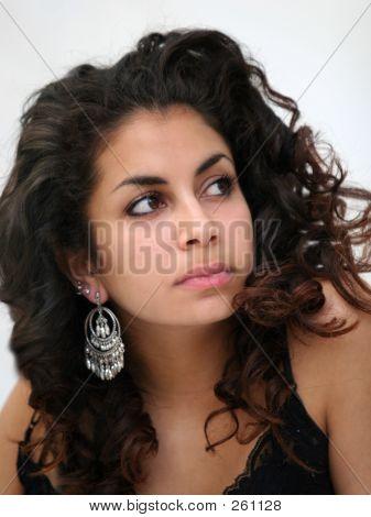 Girl In Traditional Earrings