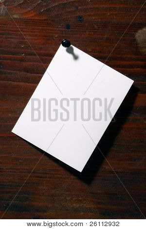 white  paper pin grunge wood aged background