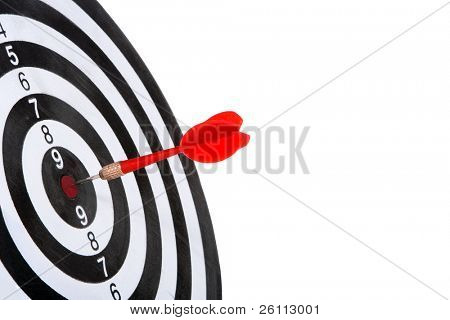target with arrow  isolated on white background