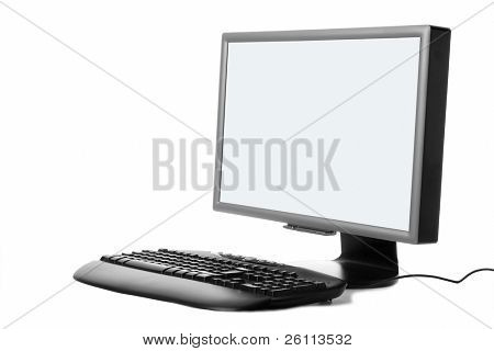 hi technology plasma monitor over white