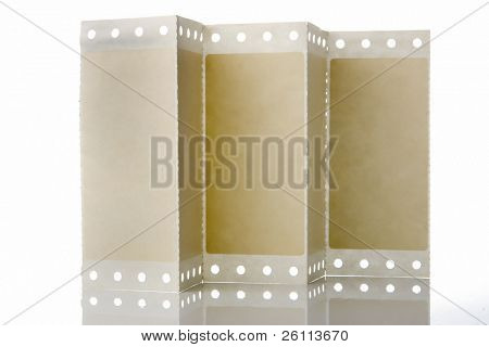 perforation paper over white