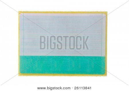paper sticker with striae over white