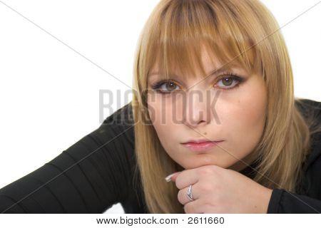 Beautiful Serious Woman