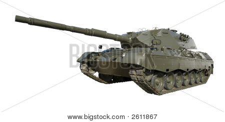 Leopardo militar en blanco