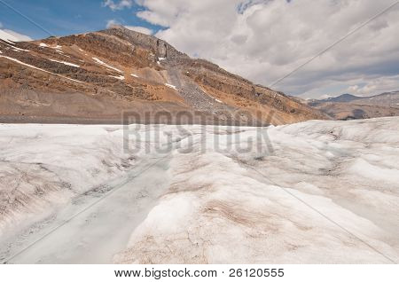 View Of Glacier And Mountain