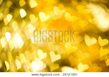 abstract yellow  background with heart