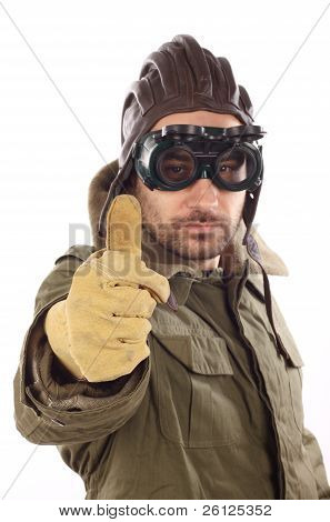 Men With Leather Helmet