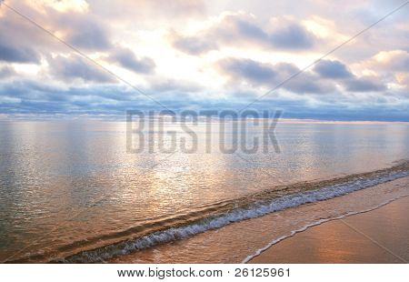 beautiful sky and sea in fantastic color