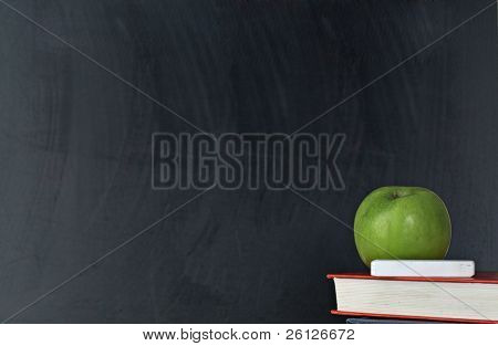 blank blackboard isolated on white background