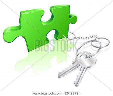 Key To The Problem Concept
