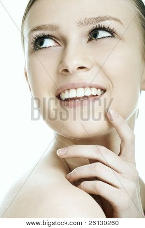 beauty woman on white background