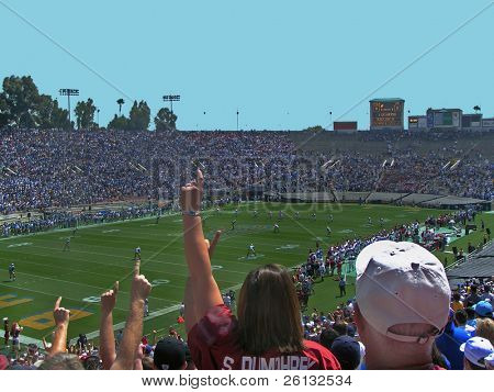 Oklahoma Sooners fans at the Rose Bowl, Pasadena, California, September 17, 2005
