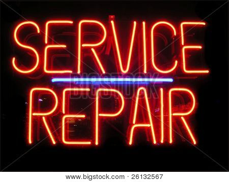 Service und Reparatur Zeichen