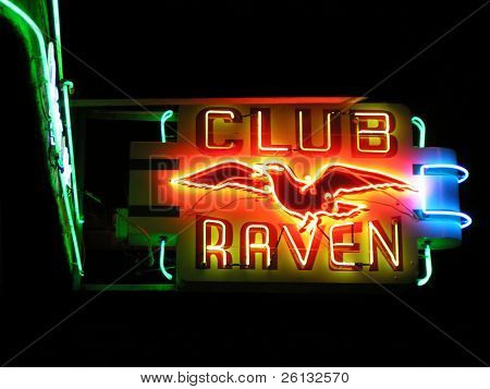 Verein Rabe Neon sign