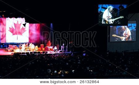 Full stage with big screens, Crosby, Stills, Nash & Young concert, Concord, California, July 25, 2006