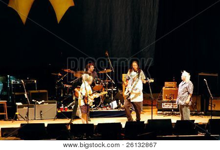 Crosby, Stills, Nash, and Young in concert, Freedom of Speech Tour, Concord, California, July 25, 2006