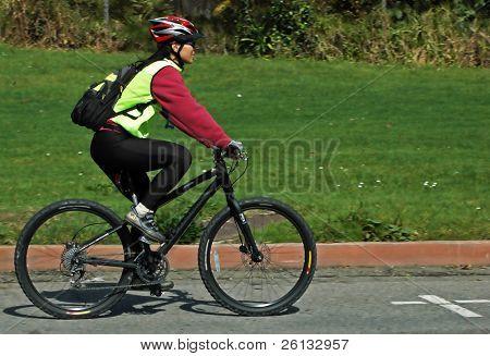 Radfahrer in einem Fahrrad-Rennen