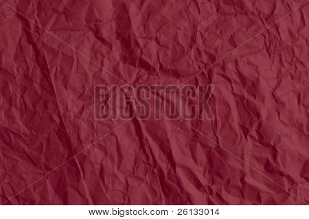 Crinkled red paper