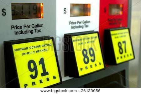 Preços do gás na bomba