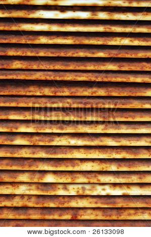 Closeup of an old and rusted vent