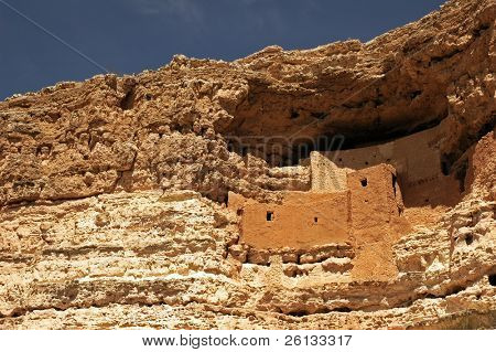 Ancient Native American dwelling at Montezuma's Castle National Monument, Camp Verde, Arizona