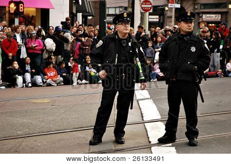 Two San Francisco police officers at the Chinese New Year's Parade