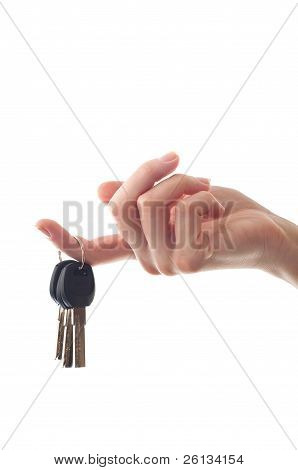Female Hand Holding Door Key