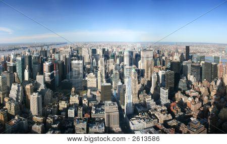Aerial Blick über Manhattan, New york