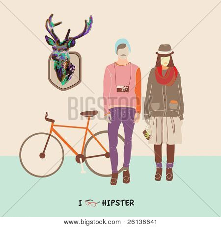 Hipster boy ang girl - fashionable youth - how to dress like hipster