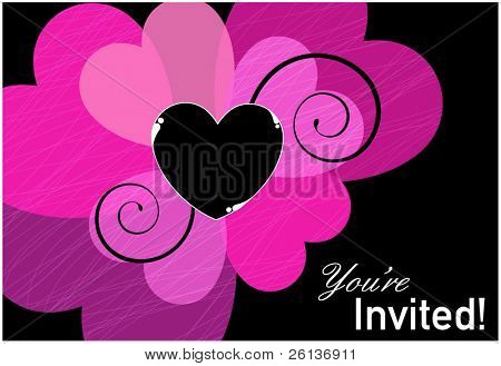 Heart Invitation Template
