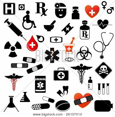 Large Set of Medical Symbols