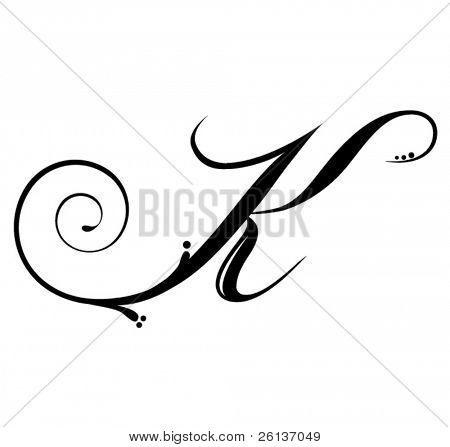 Letter K - Script