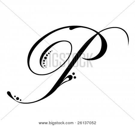 Letter P - Script