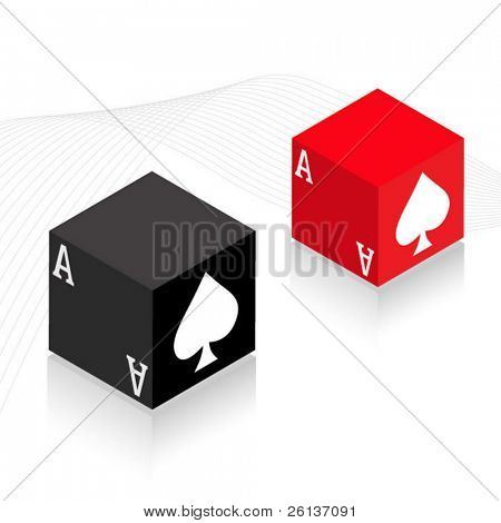 Ace of Spaces Card Blocks - 3D
