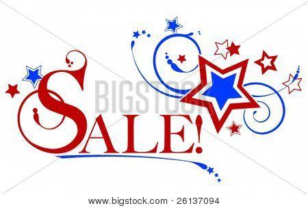 Patriotische Verkauf Sternen & Feuerwerk