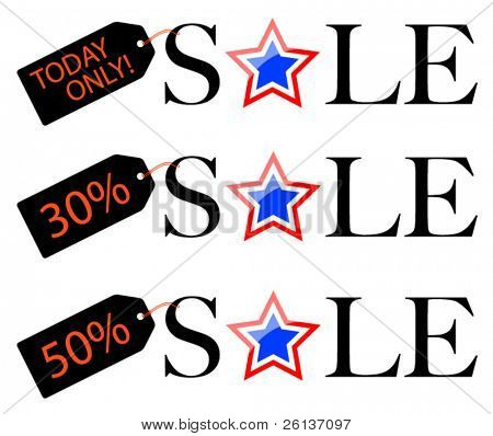 Patriotic Sale - Discount Tags
