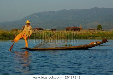 fisherman in boat