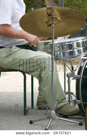 drummer at drum set