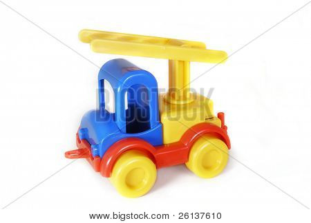 toy-truck crane over white