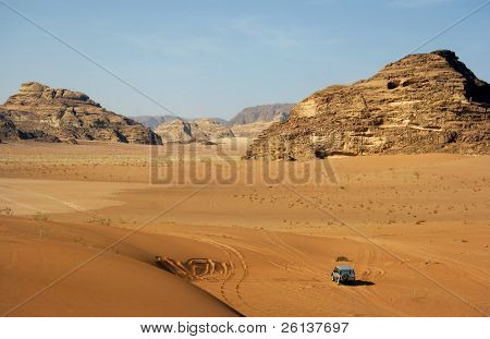jeep car in rocky desert