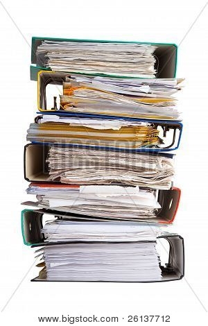 The Pile Of File Binder With Papers