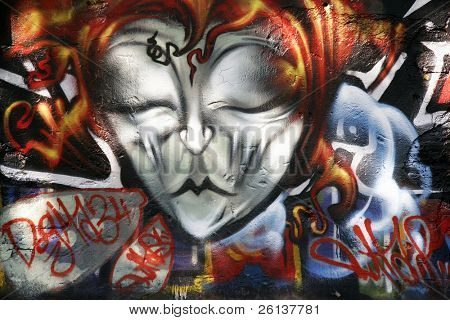 background picture of urban graffiti wall